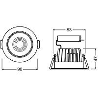 SPOT LED DALI ADJUST 8W/3000K IP20 LEDV