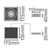 SP MULTI 1 x 30W/4000K FL WT/BK