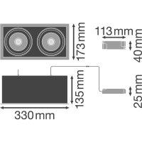 SP MULTI 2 x 30W/3000K FL WT/BK