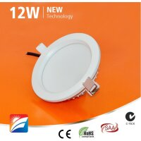 LED-Downlight, 12W, 230AC, 120°, dm 140mm, cut-out 120mm