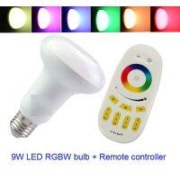 LED Birne, R63,  RGBW warm weiß, ohne Fernbedienung...