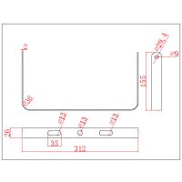 Strahler IP65, 50W, flache Ausführung, AC-Variante.